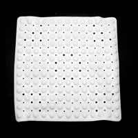 Duro-Med Non-Slip Vinyl Shower Mat 21 in. sq. with drain holes - White