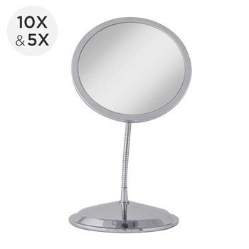 Zadro Double Magnification Vanity Suction Cup Gooseneck Mirror