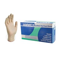 Stretch Synthetic Vinyl Exam Gloves - Medium - 100 Gloves