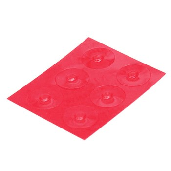 Color-Dots Tactile Key Locators - Red