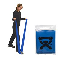 CanDo Latex Free Exercise Band - 4-ft. - Blue - Heavy Intensity