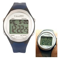 VibraLite 8 Watch with Black - Blue Silicone Band