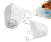 Adjustable Dog Respirator Mask, Medium 3 Pcs.