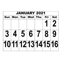 MaxiAids | Large Print Calendars