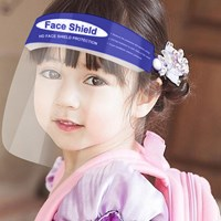 Blue Reusable and Washable, Face SHIELD with Clear Window CHILD