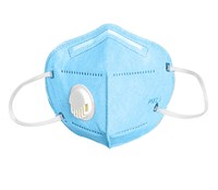 Face Mask with Exhale Vent - Light Blue