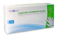 Clear Vinyl Exam Gloves - Medium - 100-bx