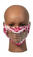 Camo Pink Reusable, Washable, Face Mask with Clear Window