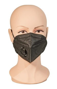 Face Mask with Exhale Vent - Black