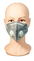 Face Mask with Dual Exhale Vents- Grey