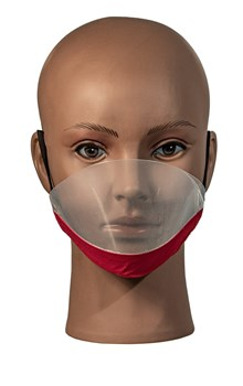 Transparent Facemask with Anti-fog RED