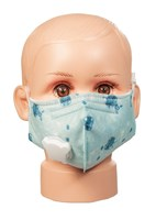 Blue Pattern CHILD cotton face mask with vent