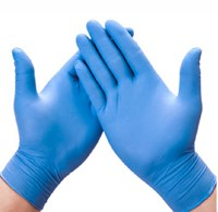 Non-Sterile Powder-Free Blue Nitrile Exam Gloves - Small - 100