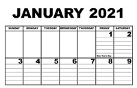 Giant Appointment Calendar 2021