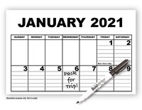 Giant Appointment Calendar 2021 - with BoldWriter 20 Pen
