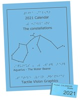 Braille 2021 Calendar with 2021 Pocket Calendar