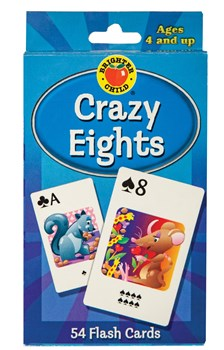 Crazy Eights large playing cards