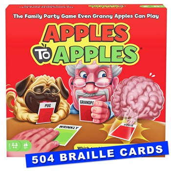 Apples to Apples 504 Braille cards Red Box