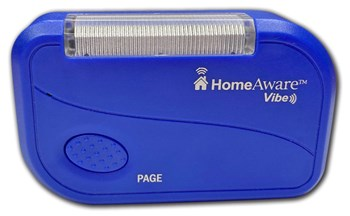 The HomeAware Vibe Personal Alert Page with Help Button