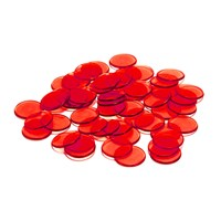 Plastic Bingo Chips 38 per bag- Red