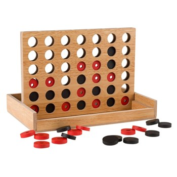 Wooden 4 in a Row Tactile Game