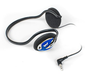 Rear-Wear Stereo Headphones