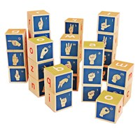 Uncle Goose American Sign Language Alphabet Building Blocks