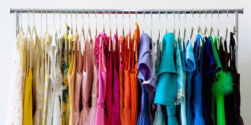Image result for color coded clothing closet images