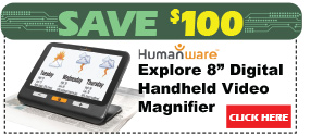 Explore 8in Digital Handheld Video Magnifier