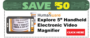 Explore 5in Handheld Electronic Video Magnifier