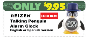Talking Penguin Alarm Clock