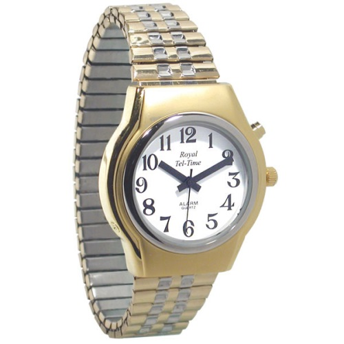 Mens Royal TelTime One Button Watch with Expansion Band