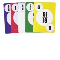 Bingo Call Number Playing Cards with Braille