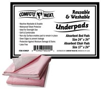 Reusable Underpads – Combo Pack – 6 Pads  Washable incontinence protection for beds & chairs