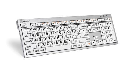 large print keyboard for mac white print blk keys