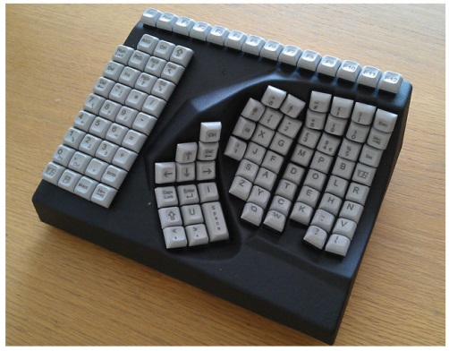 ez see large print keyboard black keys white print