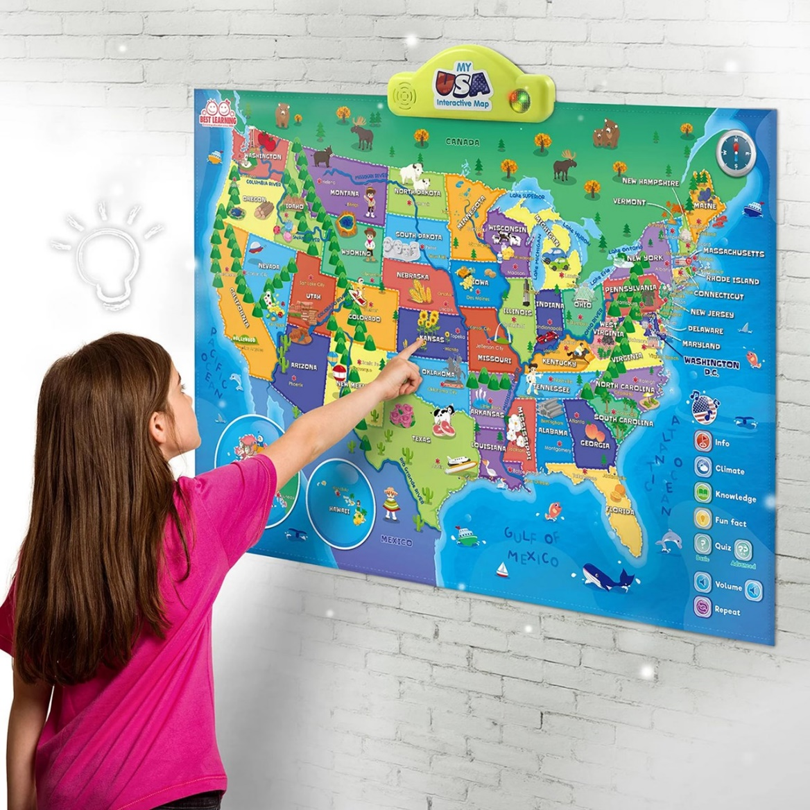 talking usa map