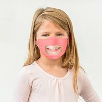 PINK CHILD Reusable Washable Face Mask with Clear Window