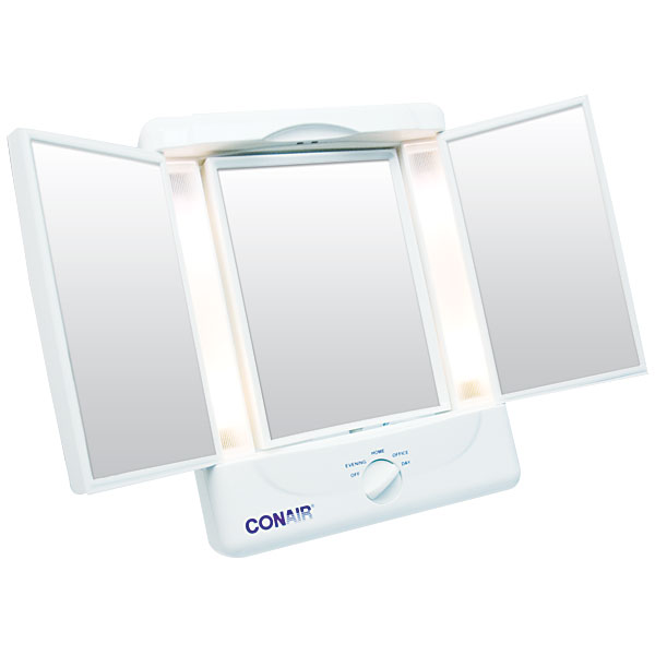 Conair Illuminating Three Panel Makeup Mirror