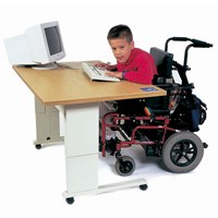 Accessible Computer Workstation with Hand-Crank