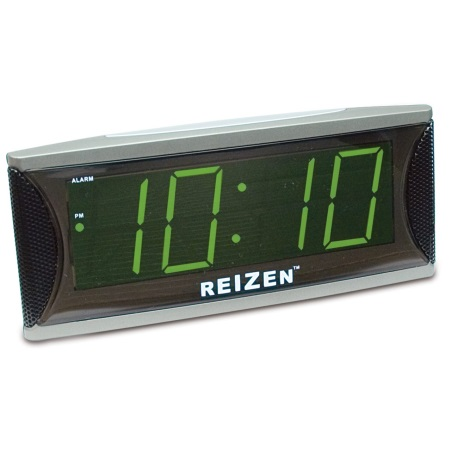 Reizen Super Loud Clock w 18 inch Green LED