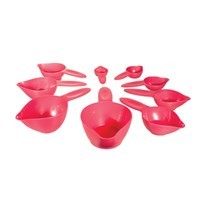 9-Piece Braille and Tactile Measuring Cup Set - Raspberry Ice