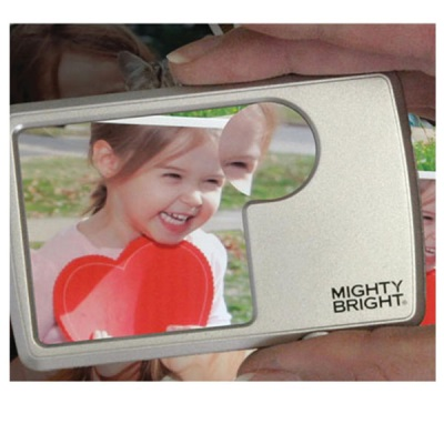 LED Lighted Wallet Magnifier 2s-6x bifocal