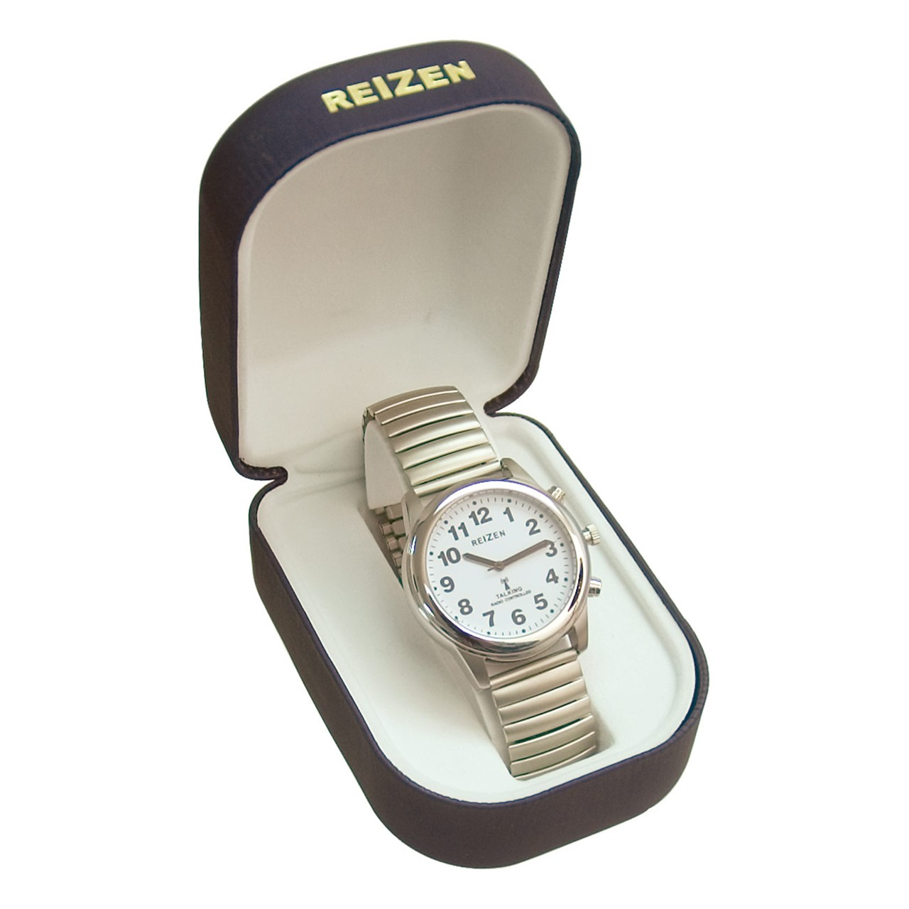 Talking Radio-Controlled Stainless Steel Watch- Expansion