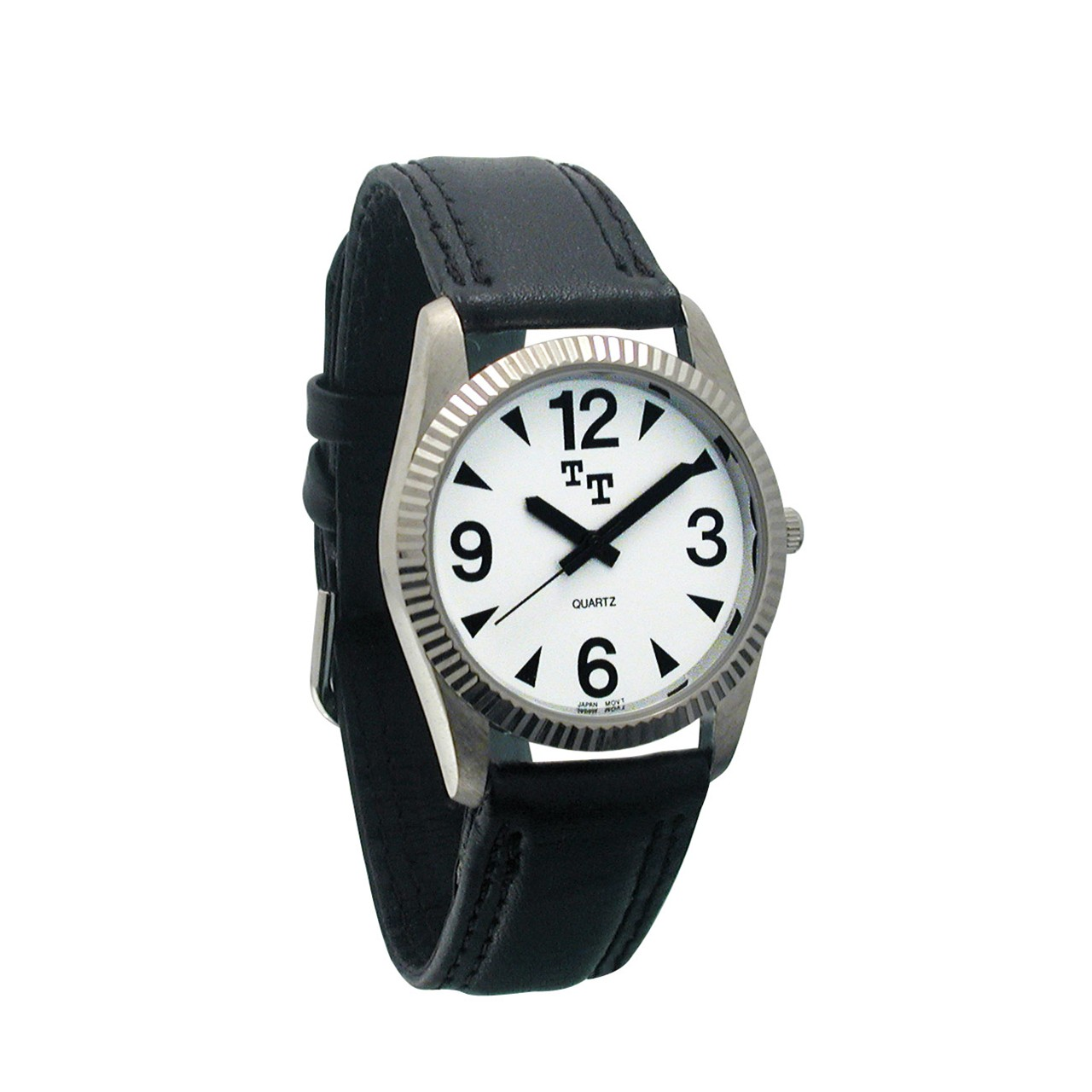 maxiaids tel time low vision mens with leather