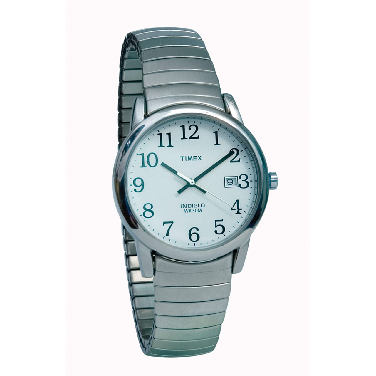 Maxiaids timex indiglo watch mens chrome with expansion band for Indiglo watches