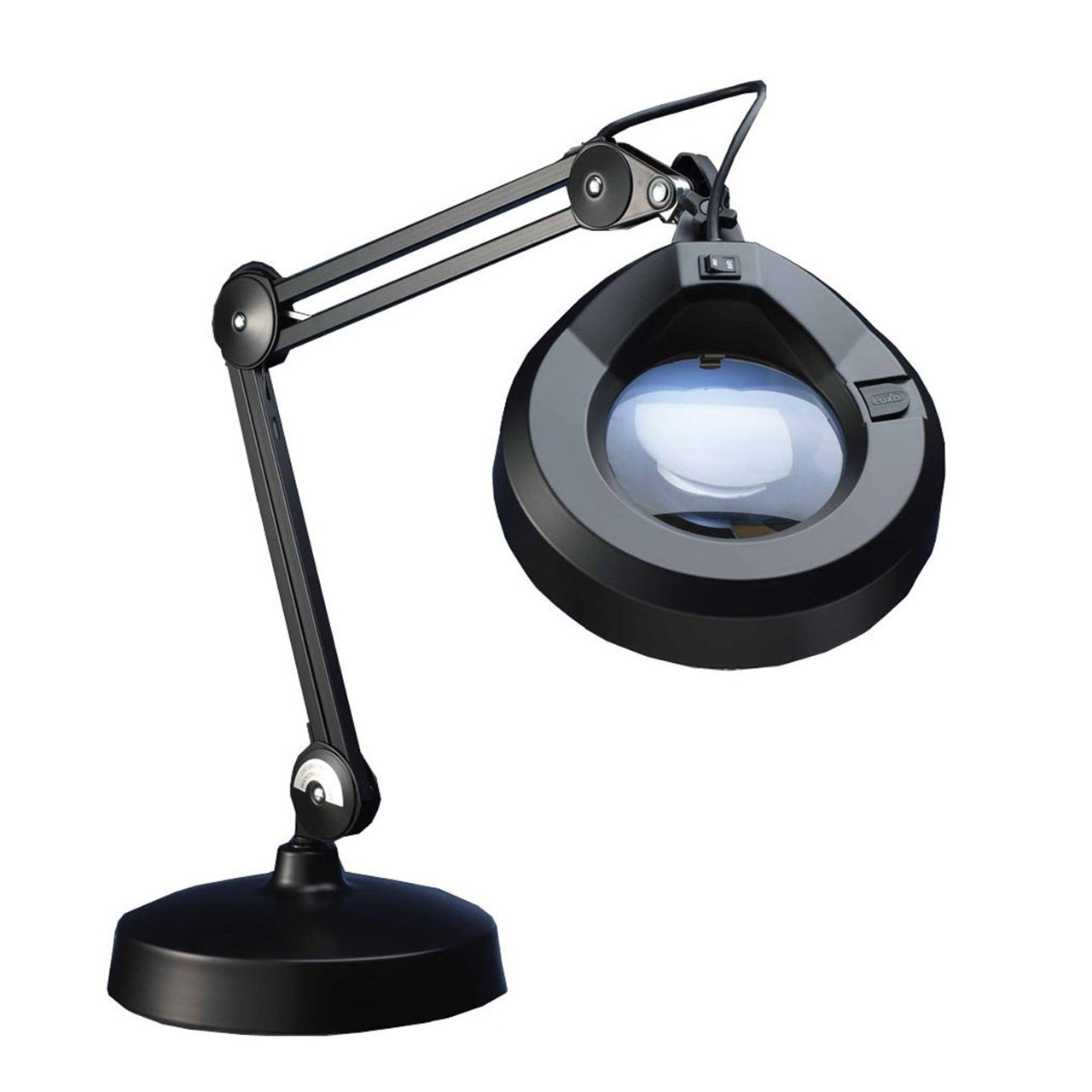 Maxiaids Magnifier Lamp 30in Arm 5d 2 25x Weighted Base Blk