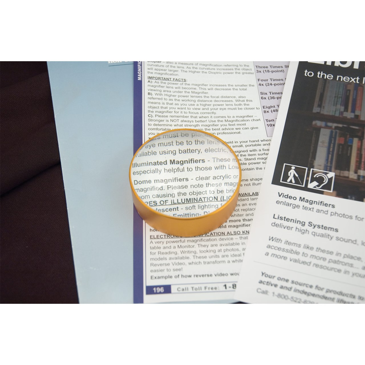 Dome Magnifier with Aluminum Frame- 5x 75mm