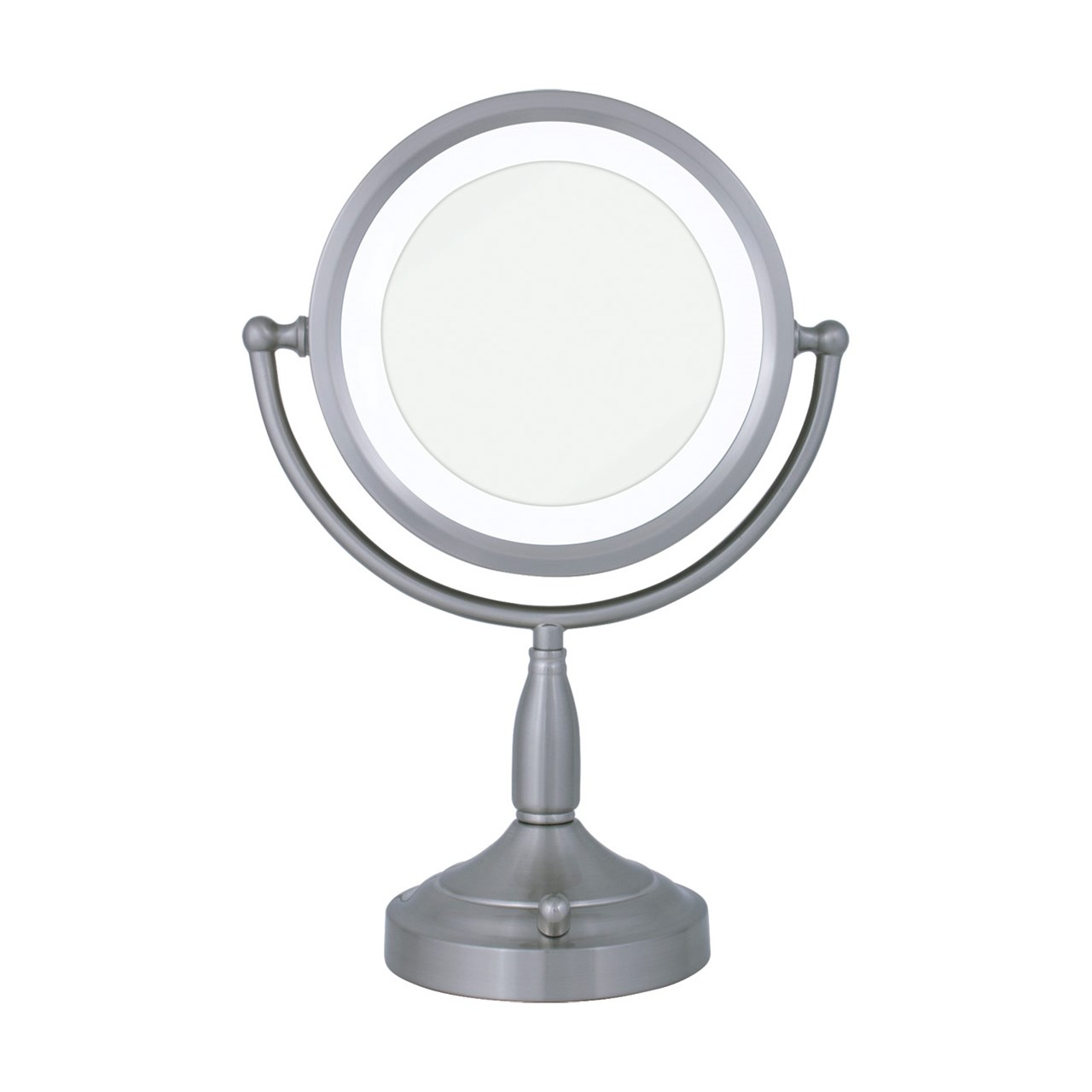 MaxiAids Lighted Round Vanity Mirror 8X-1X
