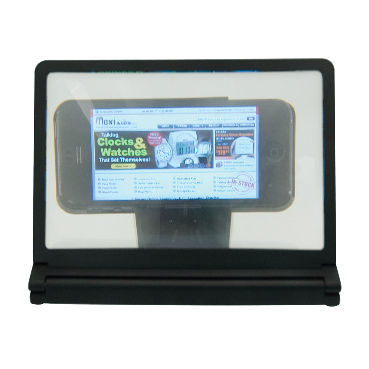 Portable Foldable Smartphone Screen Magnifier with Stand and Holder